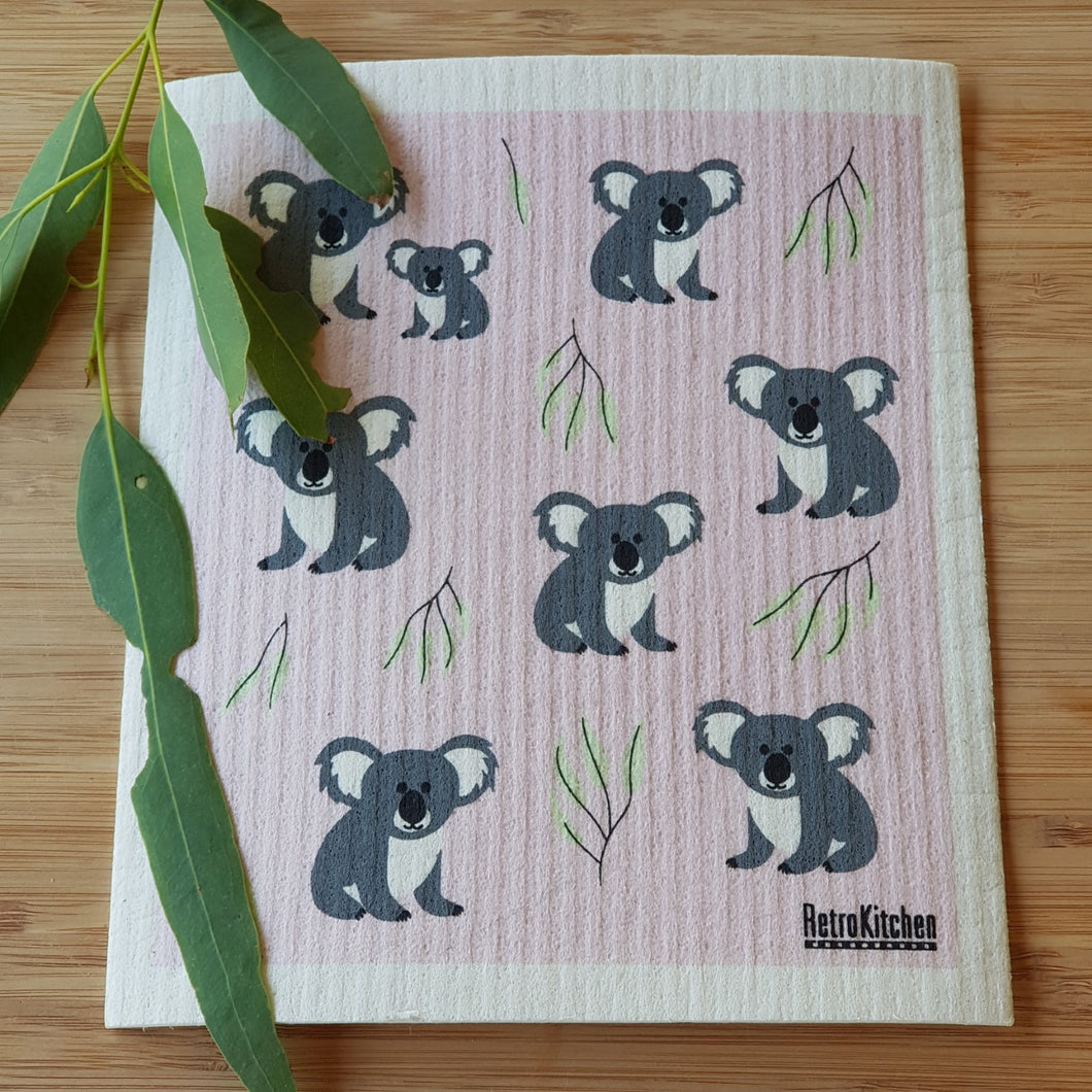 Retro Kitchen Koala Dish Cloth - The Vale Eco Packs Eco Gift Packs and Eco Products
