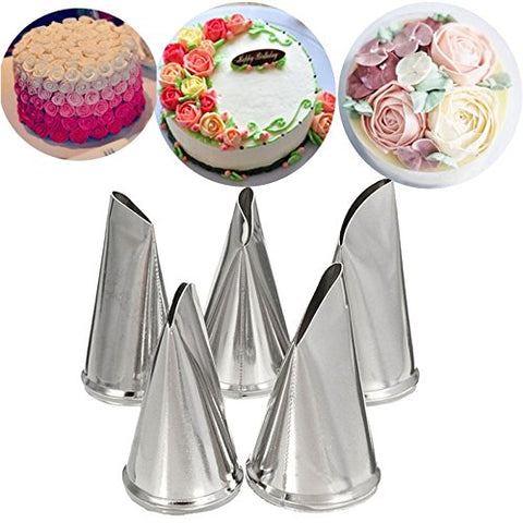 DIY Rose Petal Icing Piping Nozzles Set Stainless Steel Cake Cream Decorating - Cheap Gear Here