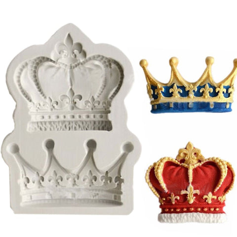 Crowns Form Princess Queen 3D Silicone Mold Fondant Mold Cupcake 9 Cake Decoration Tool - Cheap Gear Here