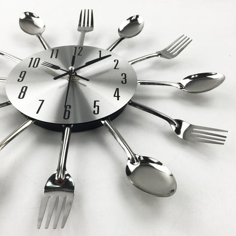 Cutlery Design Wall Clock - Cheap Gear Here