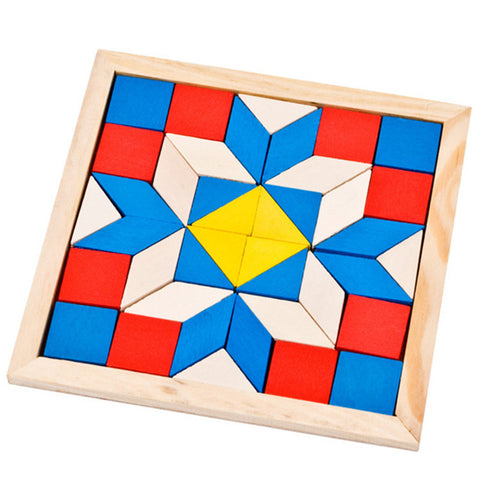 Wooden Tangram Brain Teaser Puzzle Toys - Cheap Gear Here