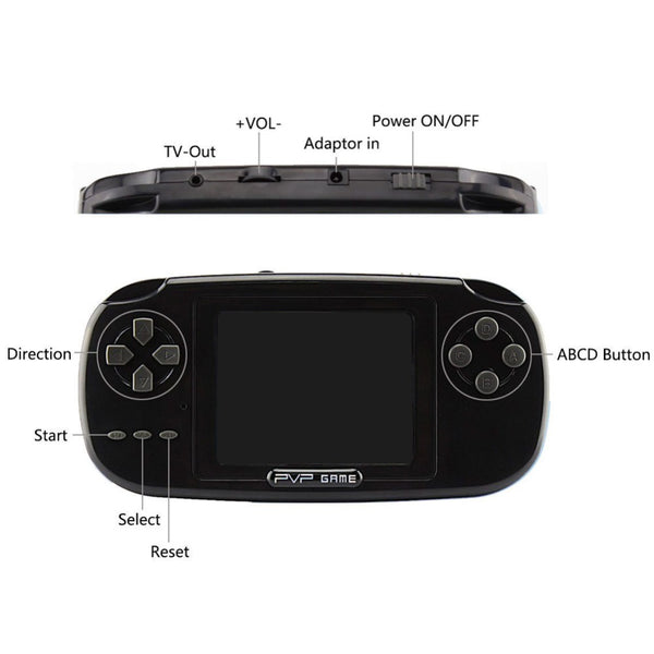 Childhood Classic Game Player With more than 168 Games 3.0 Inch 8-Bit PVP Portable Handheld Game Console - onemagic