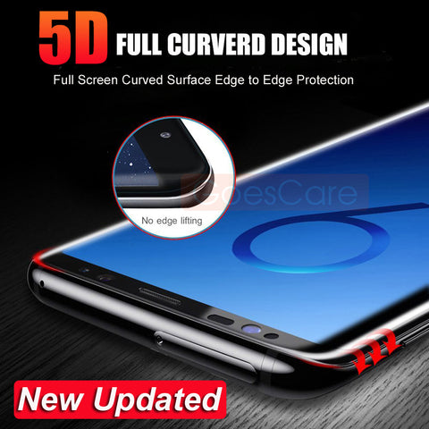 5D Full Curved Tempered Glass For Samsung S8 S9 Plus Screen Protector For Samsung Galaxy Note 8 S7 Edge A8 2018 Protective Film - onemagic
