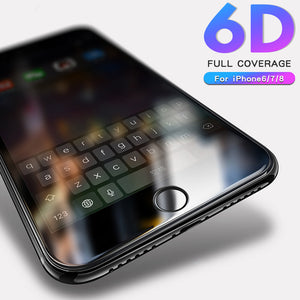 6D Glass for iPhone 7 glass iphone 8 Screen Protector glass For iPhone 6 6s 8 7 Plus Tempered Glass for iPhone 7 8 6 6s 6plus - onemagic