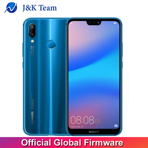 Huawei P20 Lite Global Firmware 4G LTE Mobilephone Face ID 5.84 inch Full View Screen Android 8.0 Glass Body 24MP Front Camera - onemagic