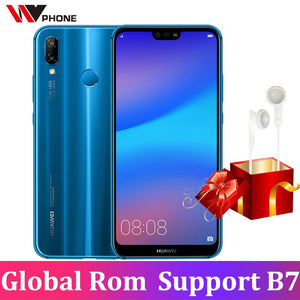 Huawei p20 lite (huawei Nova 3e) Global Firmware Face ID Mobile Phone Octa Core 5.84 inch android 8.0 full screen Fingerprint - onemagic