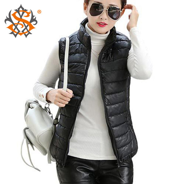 Plus Size Autumn Winter Coat Women Ladies Gilet Colete Feminino Casual Waistcoat Female Sleeveless Cotton Vest Jacket Z36 - onemagic