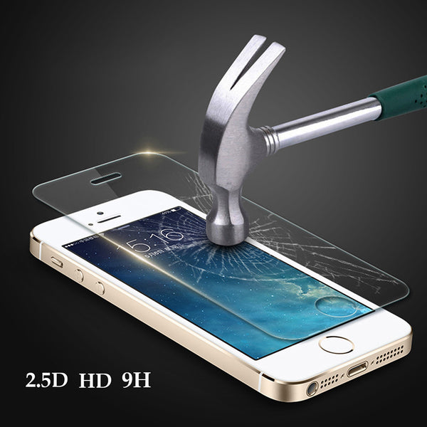 Premium 0.3mm 9H 5 5S SE Tempered Glass Explosion Proof Screen Protector Protective Film Toughened Membrane For iphone 5 5s SE - onemagic
