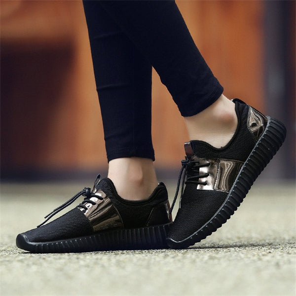 Merkmak Shoes's Men 2017 Couple Superstar Air Mesh Unisex Casual Shoes Summer Fashion Glitter Breathable Durable Flats Sapatos - onemagic