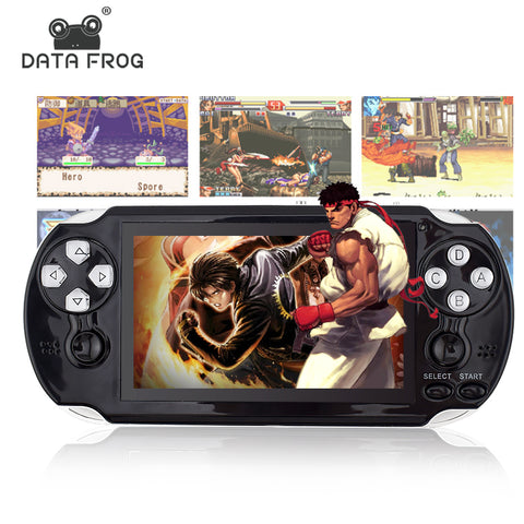 Data Frog 4.3 Inch HD Game Console 32 Bit Portable Handheld Game Players Multimedia Consoles MP5 For GBA/SMD/CP1/NEOGEO Format - onemagic