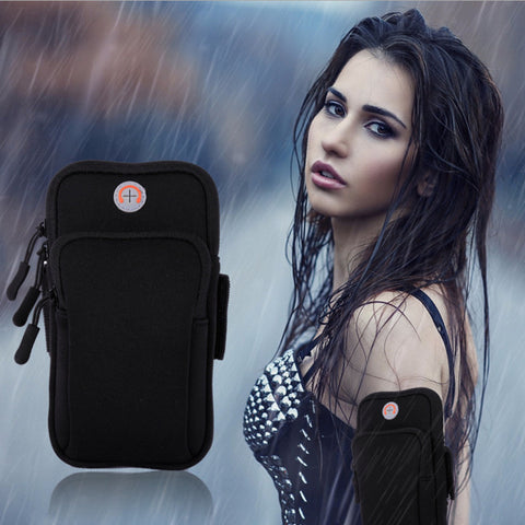 Running Wrist Band Bag Outdoor Sports Phone Arm Package Hiking Cell Strap Pocket - onemagic