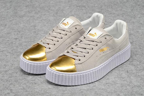 New Arrival  PUMA rihanna Suede Platform creeper Basket Suede Men shoes and women Sneakers Badminton Shoes size36-44 - onemagic