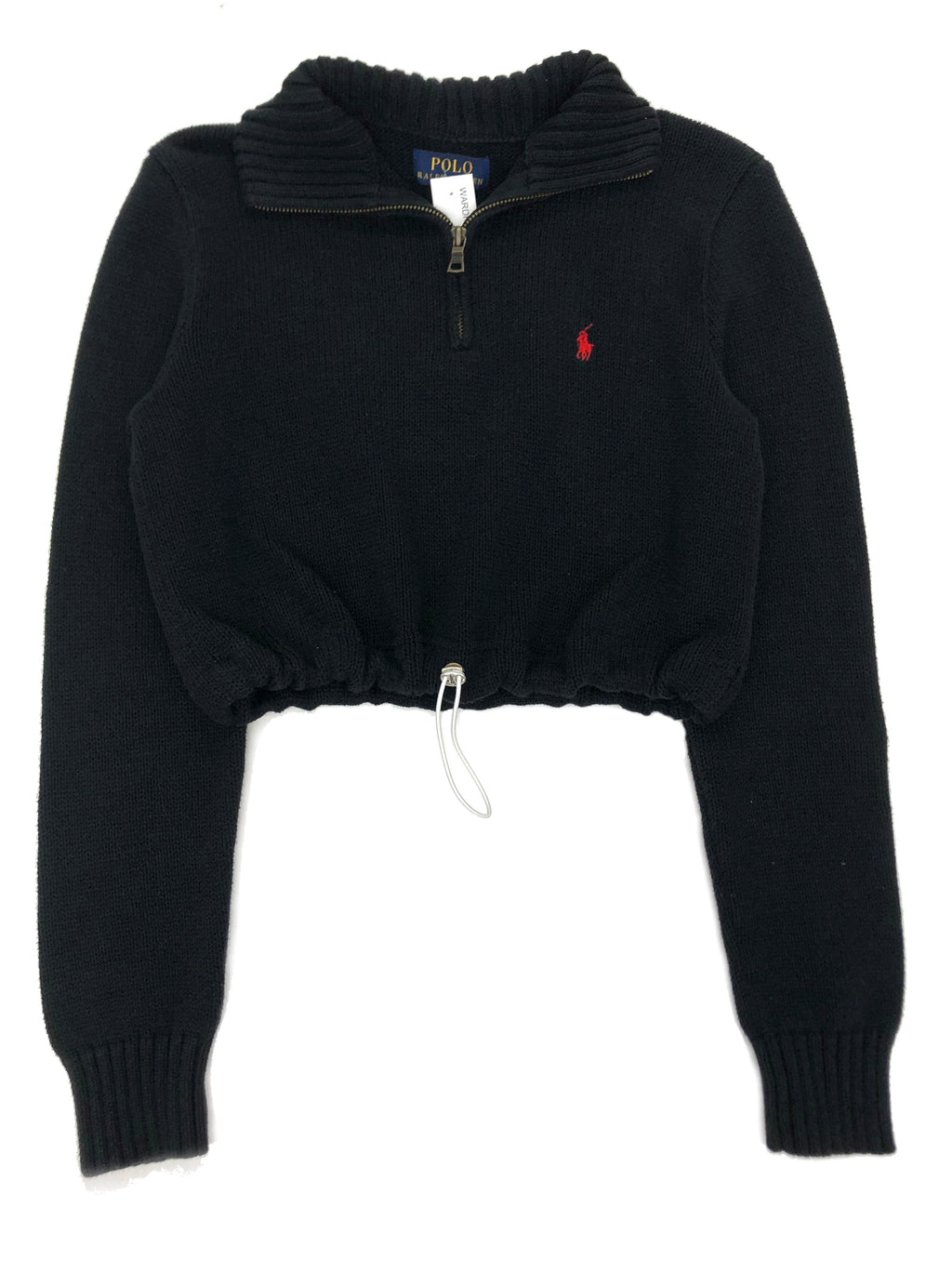 Cute Ass Ralph Lauren Mid Zip Pullover Drawstring Crop