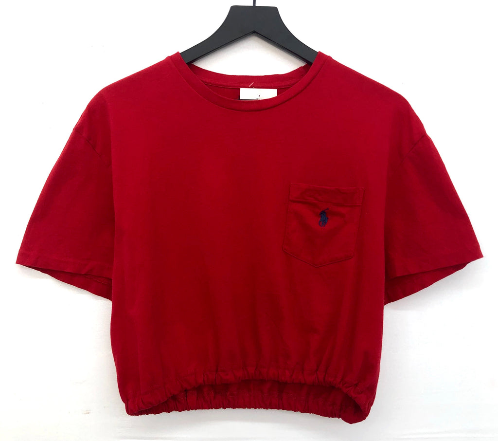 Ralph Lauren Polo With Pocket Scrunchy Crop