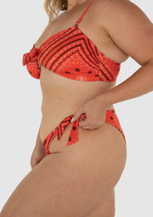 The Ruby Tie Bandeau