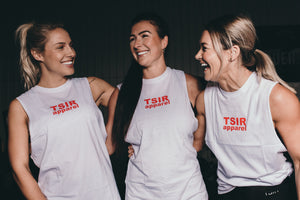 TSIR APPAREL White Muscle Tank
