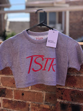 Load image into Gallery viewer, TSIR Grey With Red Logo Crop
