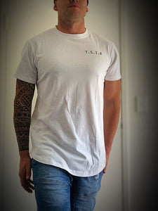 TSIR White Curved Tee