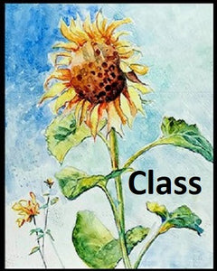 "DW5 Video of Zoom Class, ""Painting Sunflowers"", by Deanna White"