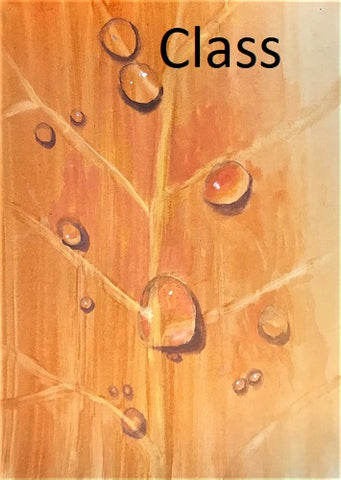 "KB14 Video of  Zoom Class, ""Painting Raindrops"", by Kathleen Buck"