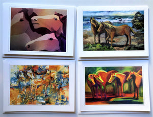 "KBC2 Greeting Card Set, Giclees based on Original Artwork, Acrylic or Watercolor,  each 5"" x 7"",  blank inside with Envelope, by Kathleen Buck"