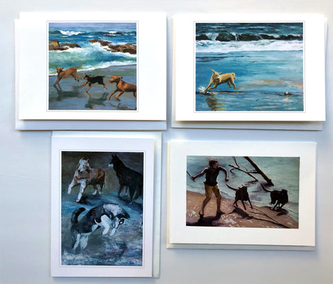 "KBC6 Greeting Card Set, Giclees based on Original Artwork, Acrylic or Watercolor, each 5"" x 7"", blank inside with Envelope, by Kathleen Buck"