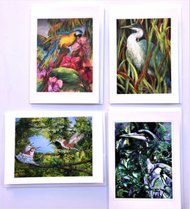 "KBC7 Greeting Card Set, Giclees based on Original Artwork, Acrylic or Watercolor, each 5"" x 7"", blank inside with Envelope, by Kathleen Buck"