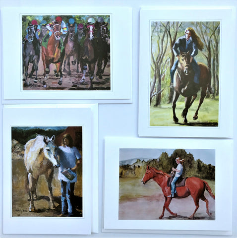 "KBC12 Greeting Card Set, Giclees based on Original Artwork, Acrylic or Watercolor,  each 5"" x 7"",  blank inside with Envelope, by Kathleen Buck"