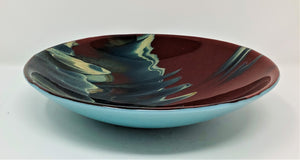 "RM32 Small Glass Bowl, Red, 10"" x 10"", by Rinee Merritt"