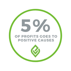 Donate 5% of Profits to Positive Impact Change