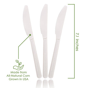 Ecovita Premium Compostable Biodegradable Knives Plant Corn
