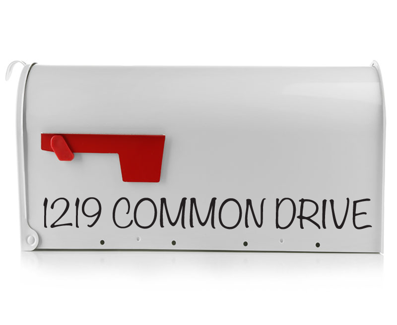 The Chapel Mailbox Decal is a simple, yet stylish way to add visibility to your mailbox. This mailbox decal sticker will come customized with your address. The Chapel Mailbox Decal comes printed with all capital lettering, making your home easier to find.