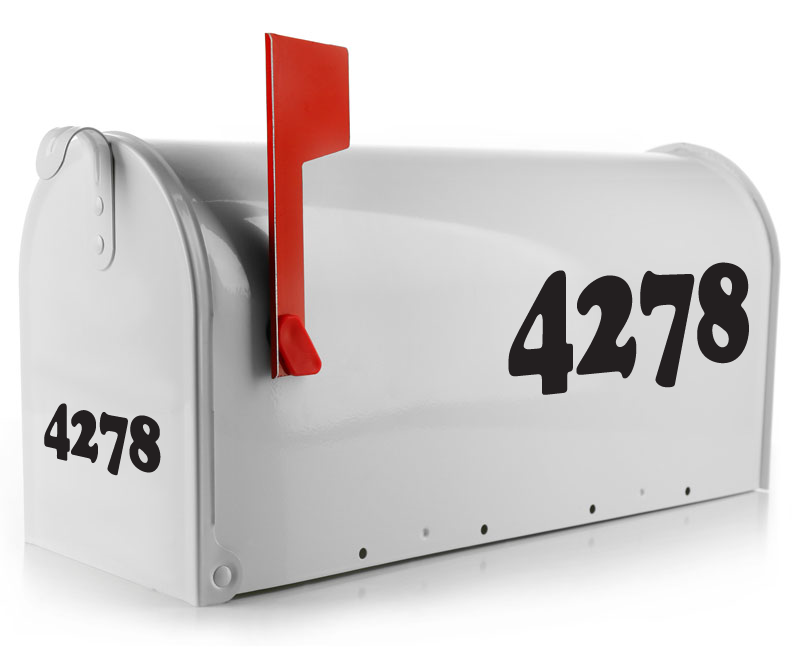 Mailbox Decal - Bold Numbers