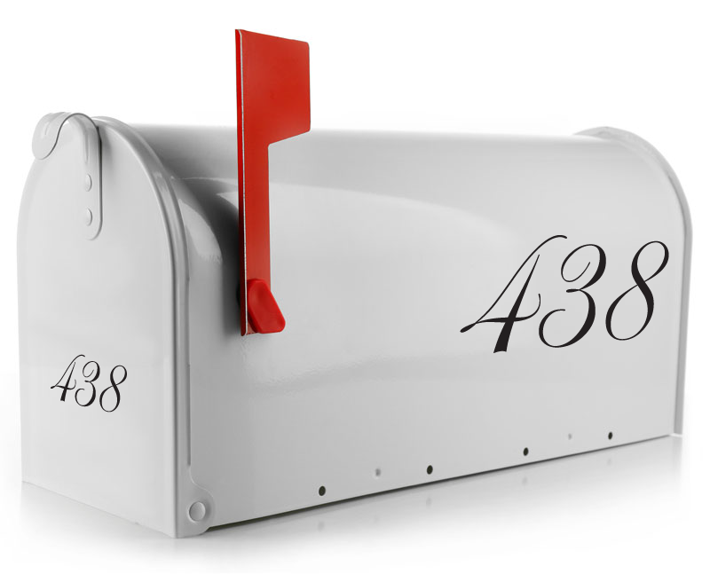Mailbox Decal - Script Numbers