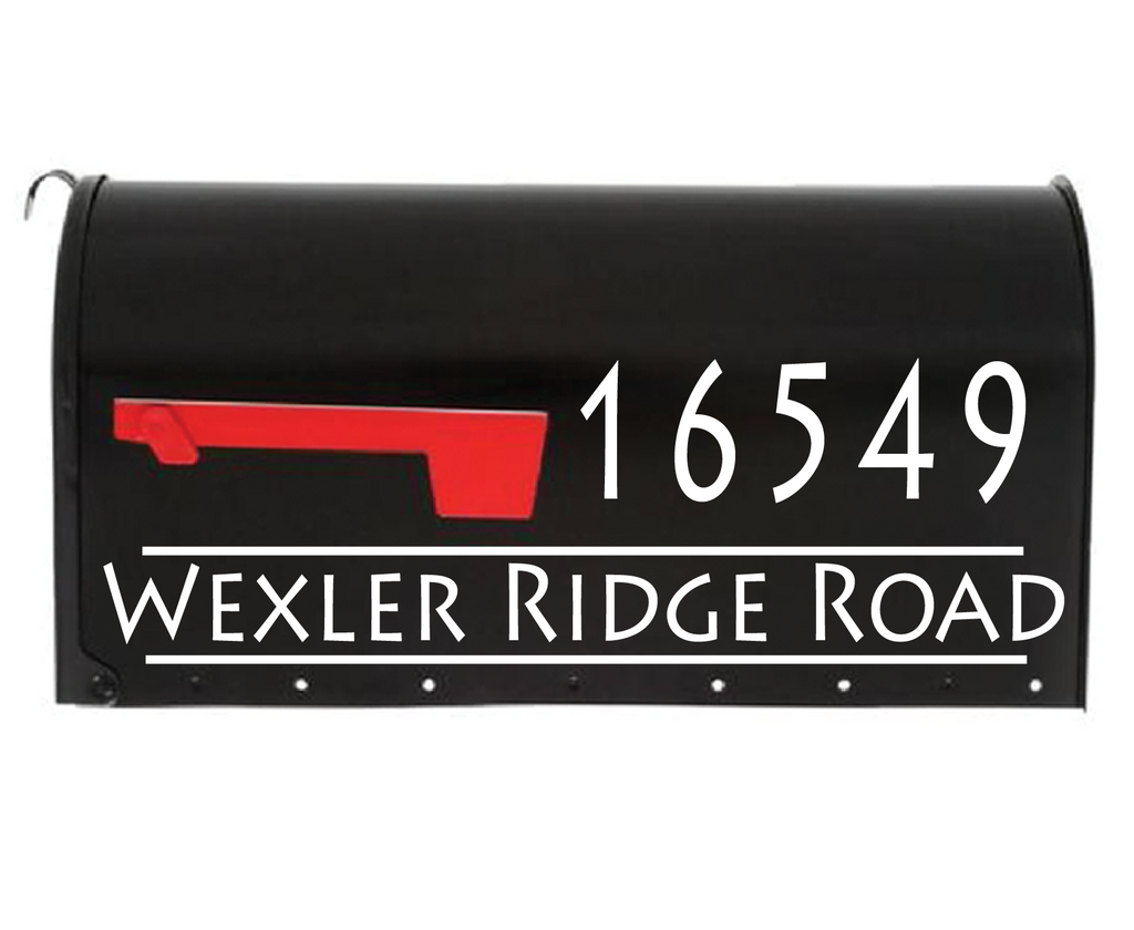Mailbox Decal - Modern Edge