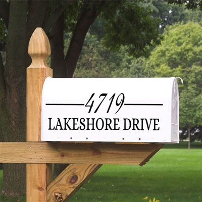 If you're looking for a simple fix to brighten up your mailbox, this simple numbers mailbox decal is an excellent alternative to those mailbox stickers that just fall off. The Simple Numbers Mailbox Decal will come customized with your street number and address. Mailbox Decals are a great way to guide guests, postal carriers and even emergency vehicles to your home.