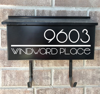 Wall Mount Mailbox Decal - Simple Modern