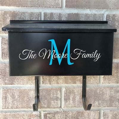 Wall Mount Mailbox Decal - The Initial
