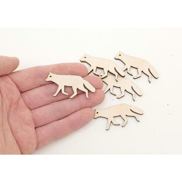 Ornaments Craft Gift Decoupage Unpainted MG000931 Wild Animals Wooden Blanks Wood Animals 10x Wooden Fox Cutouts 1