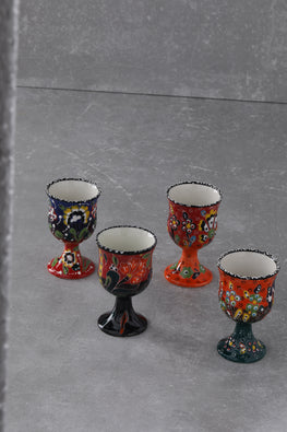 EXCLUSIVE HANDCRAFTED SPECIAL EMBOSSED 4-PIECE GOBLET