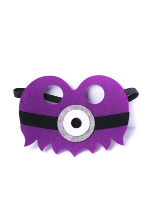 Kids Purple Minion Felt Mask