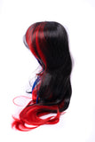 Premium Wig - Long Black and Red