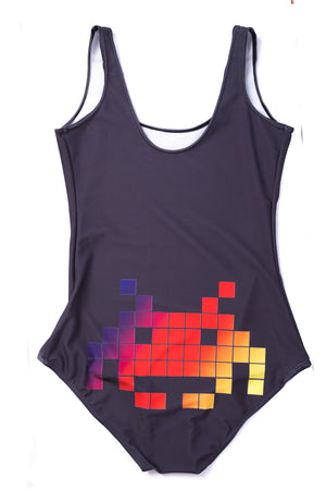 Space Invaders One Piece Swimsuit