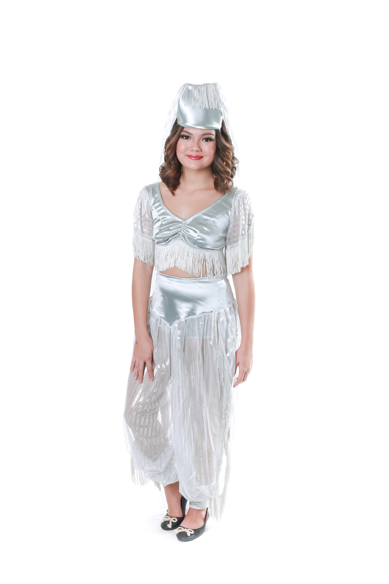 Silver Belly Dancer Costume