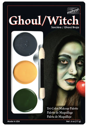 Tri Color Palette Makeup - Ghoul Witch