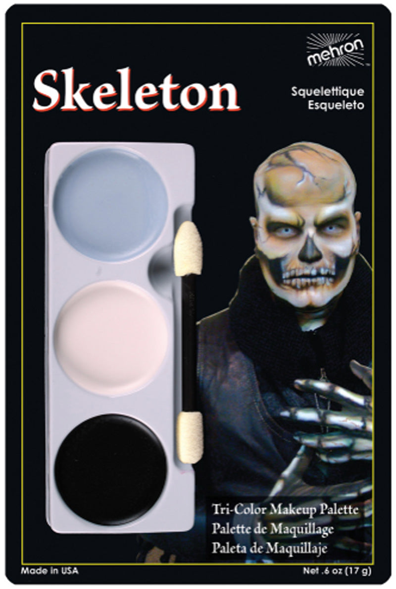 Tri Color Makeup Palette - Skeleton