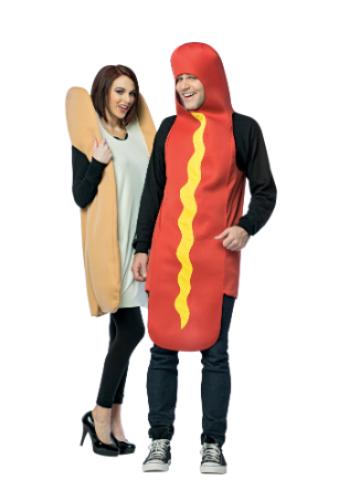 Hotdog and Bun Couples Costume