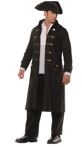 Black Pirate Coat Set