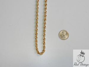 Gold Rope Chain Necklace 12""