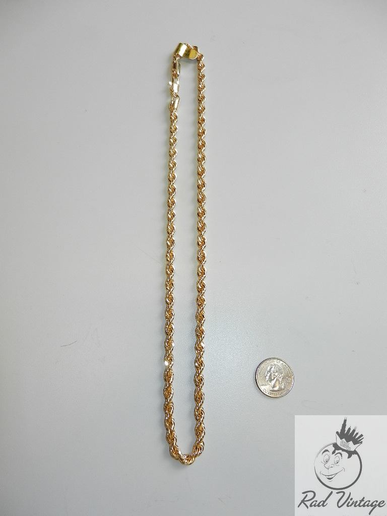 Gold Rope Chain Necklace 12